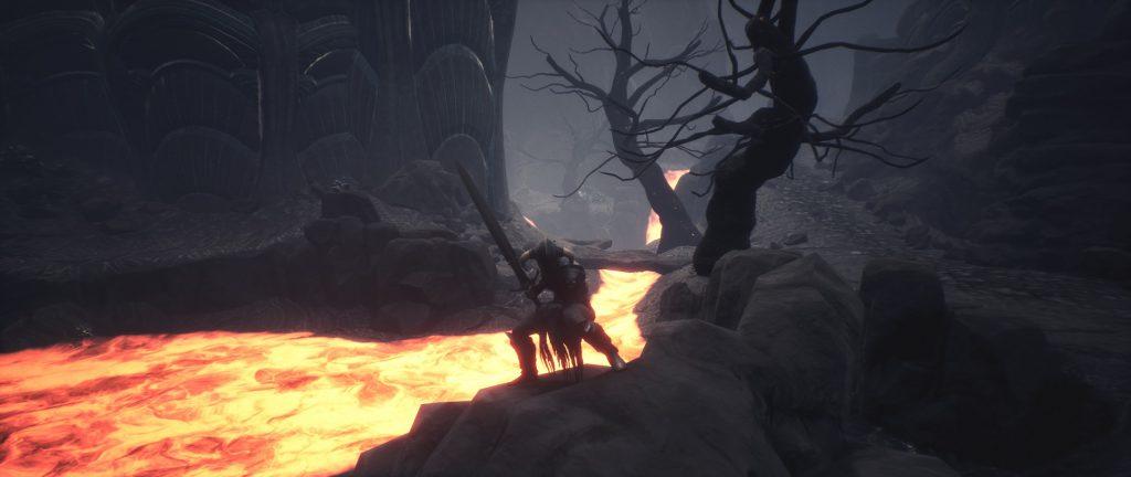 Conan Exiles Screenshot Stille Legion Rüstung vor Vulkan Endgame
