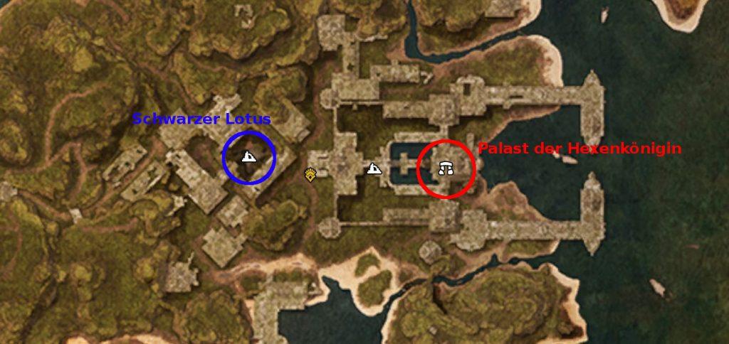 Conan Exiles Screenshot Sumpf Xel-ha Schwarzer Lotus Palast der HExenkönigin