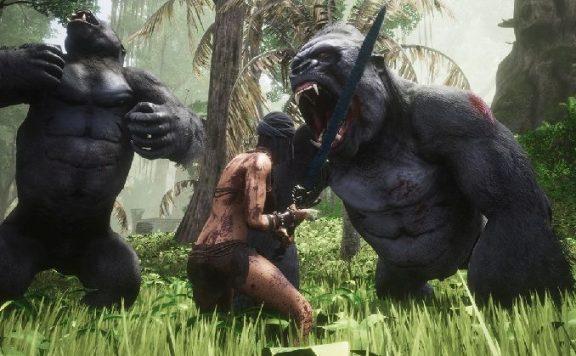 Conan Exiles Screenshot Swamp Exile vs Gorillas Title