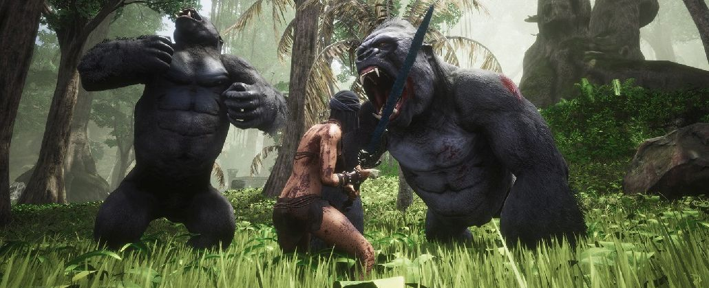 Conan Exiles Screenshot Swamp Exile vs Gorillas Title