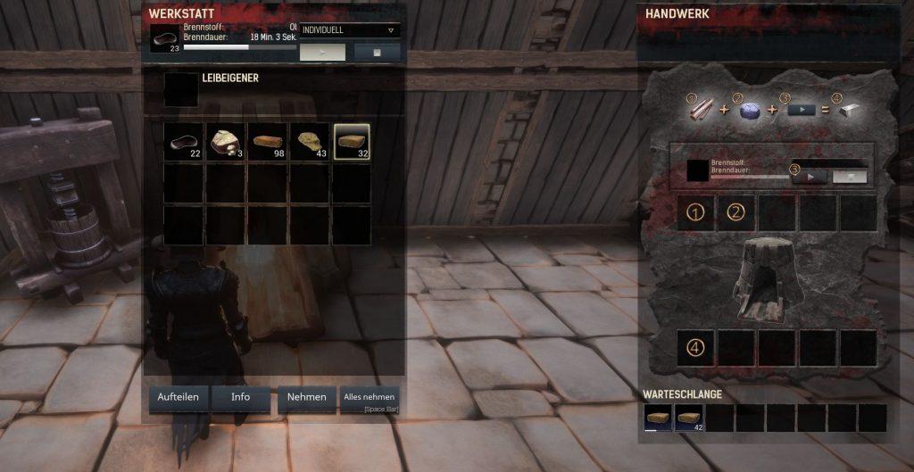 Conan Exiles Screenshot gehärteter Ziegel im Ofen
