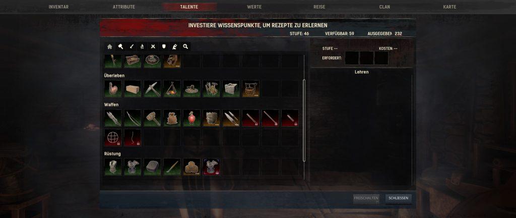 Conan Exiles Talente Screenshot
