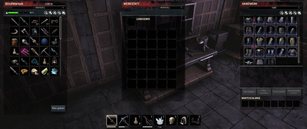 Conan Exiles verbesserte Werkbank des Rüstungsmachers Rezepte Screenshot