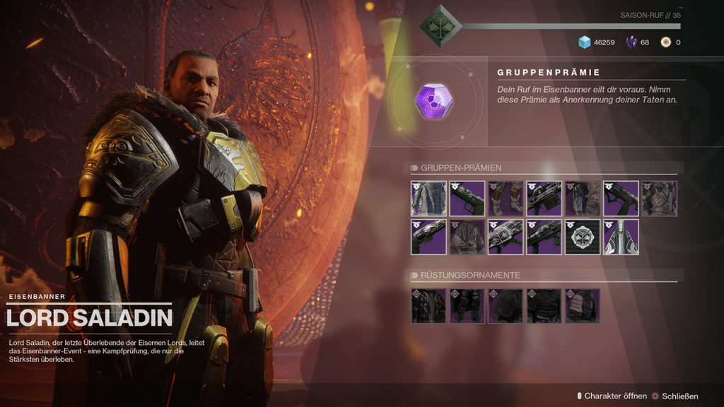 Destiny 2 Lord Saladin Gear Mai