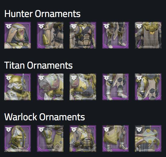 Destiny 2 Sternenschleuse Ornamente