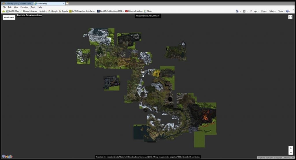 Herr der Ringe Online Google Map 1