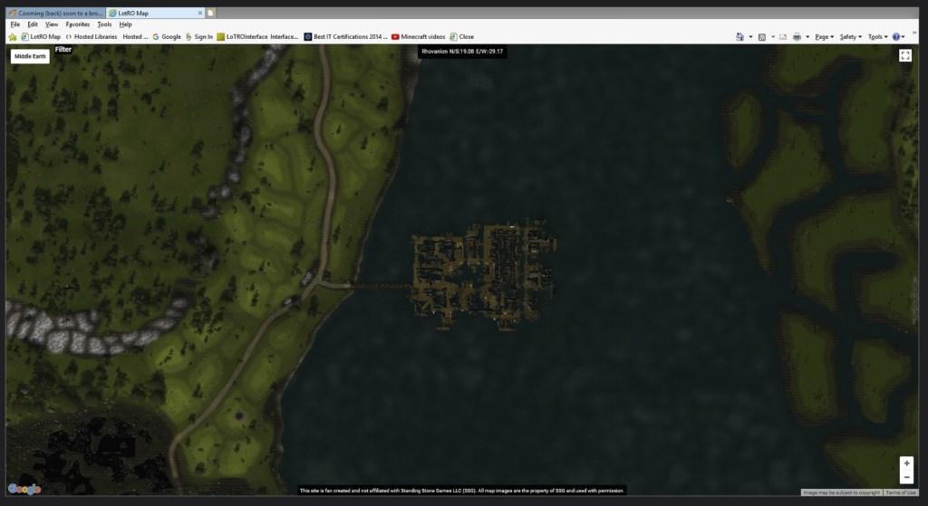 Der Herr der Ringe Online: Fans arbeiten an Google Maps für Mittelerde