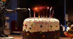 Overwatch Anniversary 2018 Reaper erschießt den Kuchen mit Tracer Titel