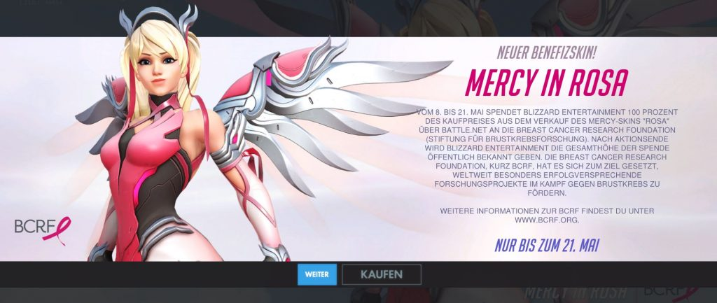Overwatch Mercy Brustkrebs