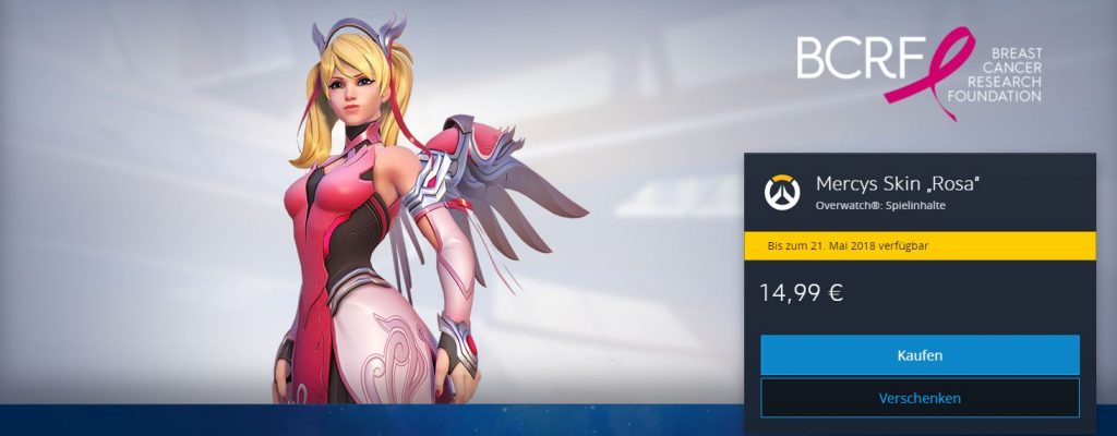 Overwatch Mercy Brustkrebs Battlenet shop