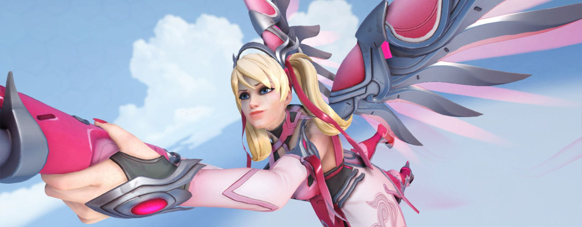 Overwatch Mercy Brustkrebs pink highlight intro titel