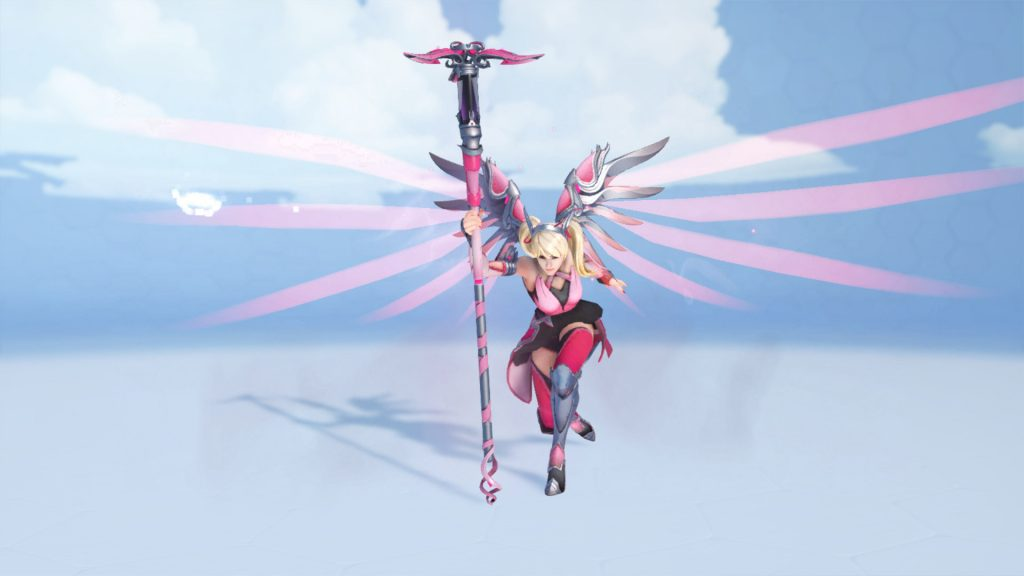 Overwatch mercy Brustkrebs Pink Emote Caduceus