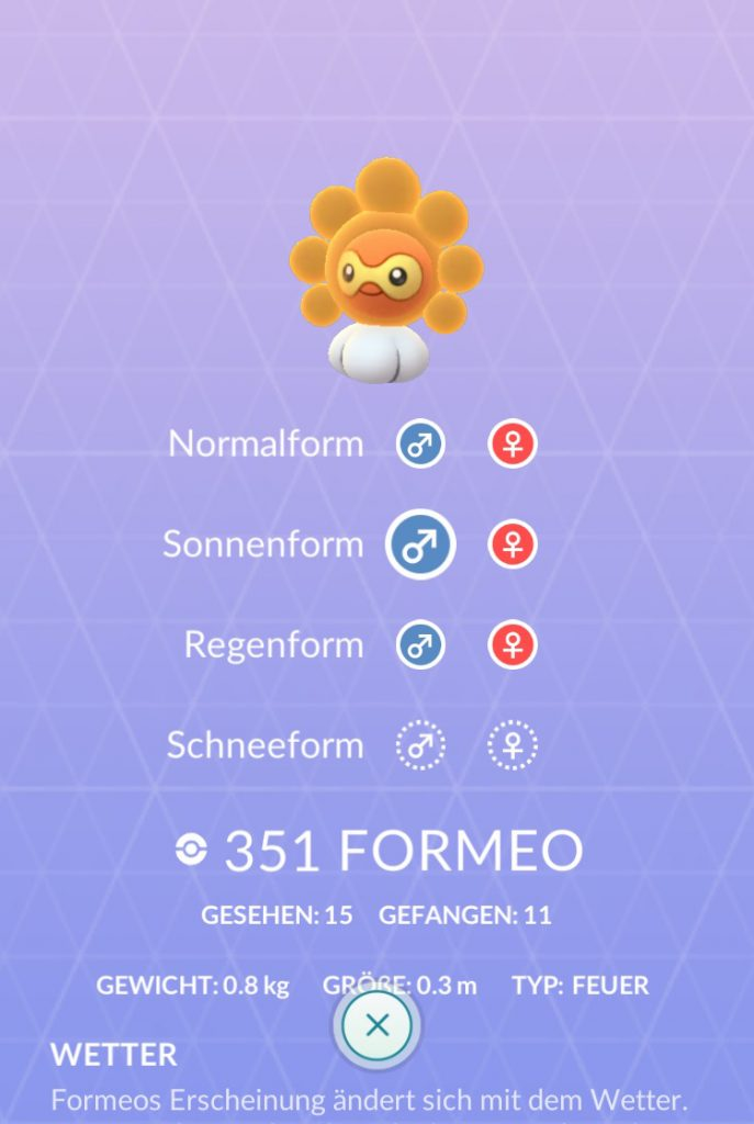Pokémon GO Formeo Sonne2