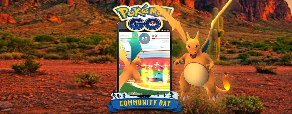 Pokémon GO Glurak Titel Com Day