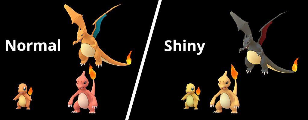 Pokémon GO Shiny Glumanda Normal und Shiny