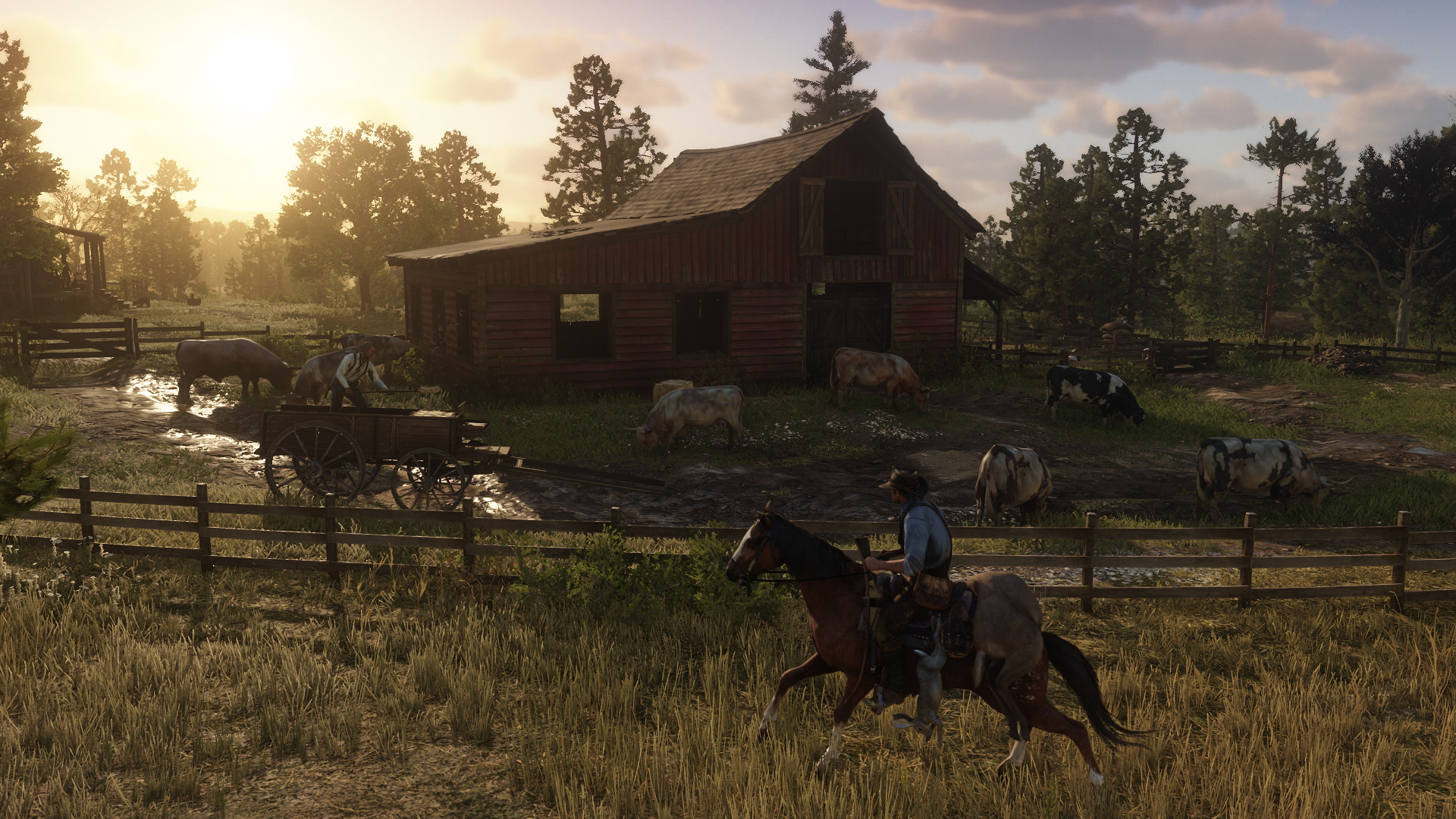 Red Dead Redemption 2 Farm mit Kühen 2