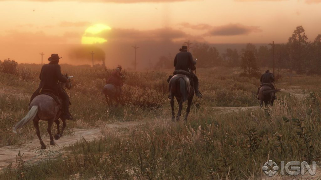 Red Dead Redemption 2 Gang Sonnenuntergang