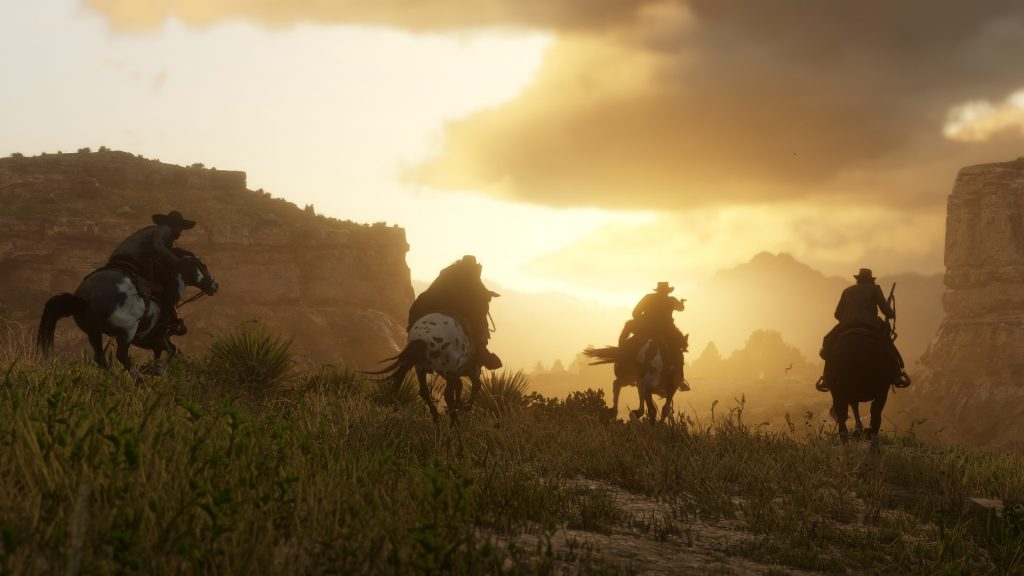 Red Dead Redemption 2 Reiten Sonnenuntergang Gang 2