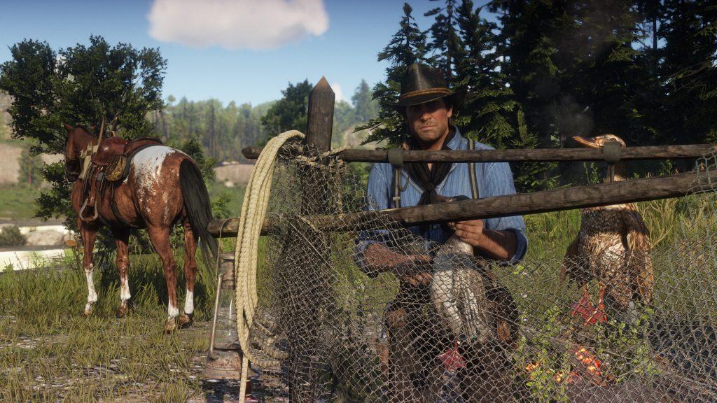 Red Dead Redemption 2 Zaun Ente Jagd Beute