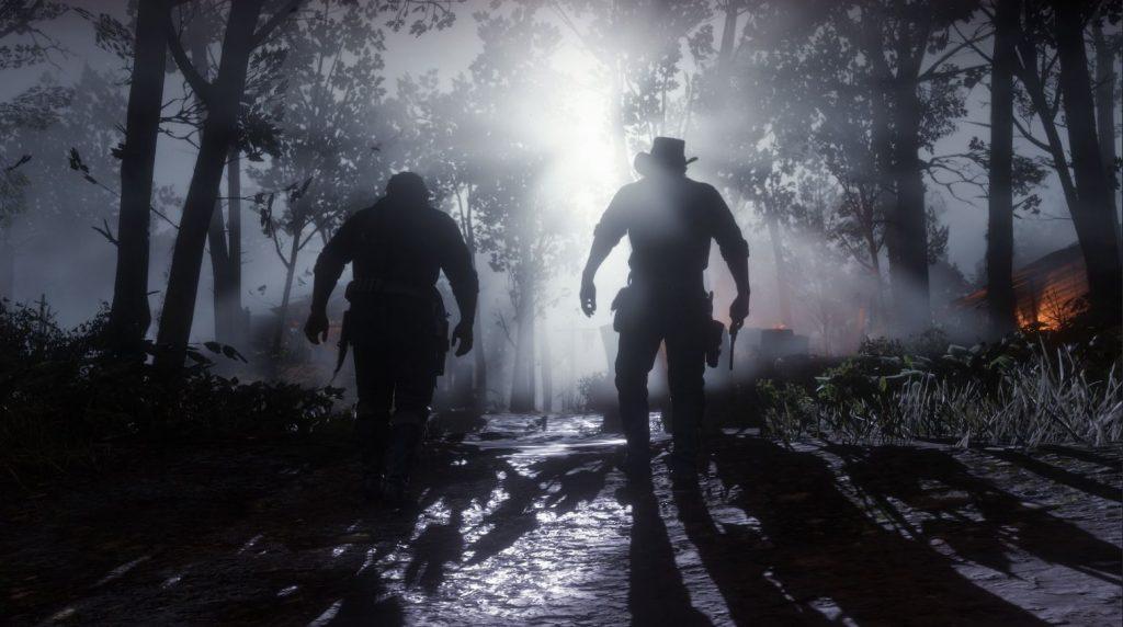Red Dead Redemption Bäume Nacht Revolver