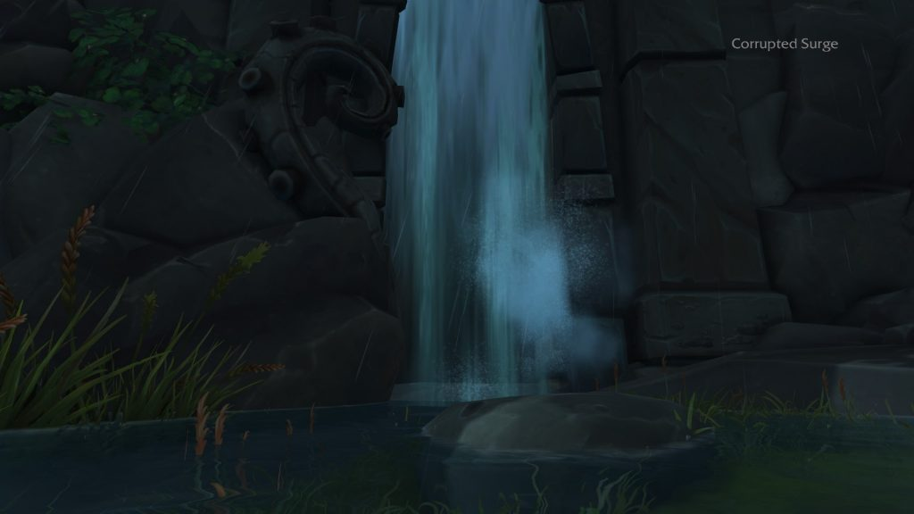 WoW Battle for Azeroth Blood Serpent Waterfall