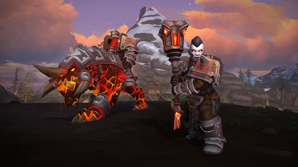 WoW Battle for Azeroth Dunkeleisenzwerge Mount und Rüstung