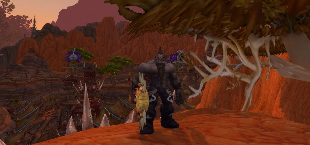 WoW Battle for Azeroth Mag'har Orc in Orgrimmar