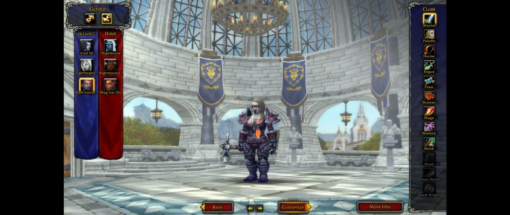 WoW Battle for Azeroth Screenshot Dark Iron Dwarf creation