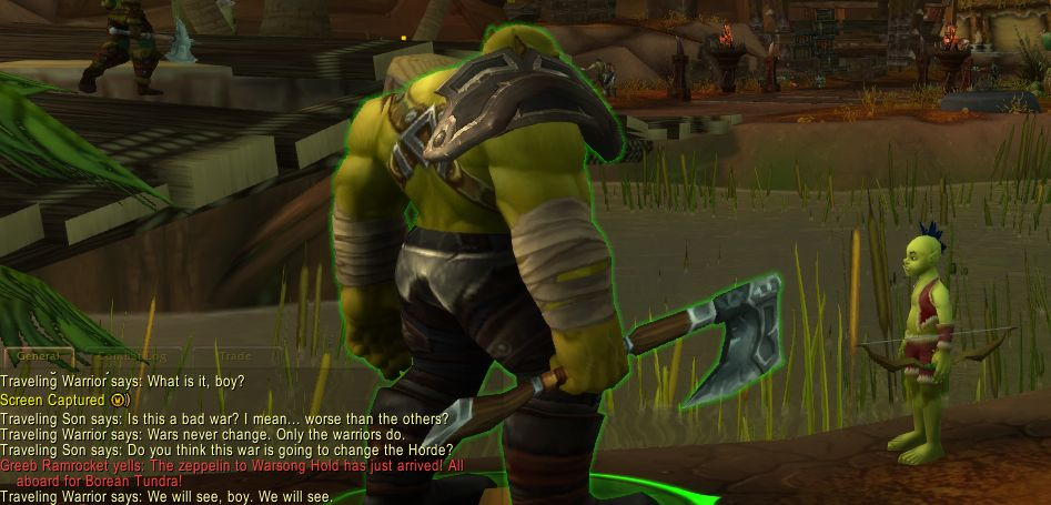 WoW Battle for Azeroth Screenshot wandering warrior wandering son reddit