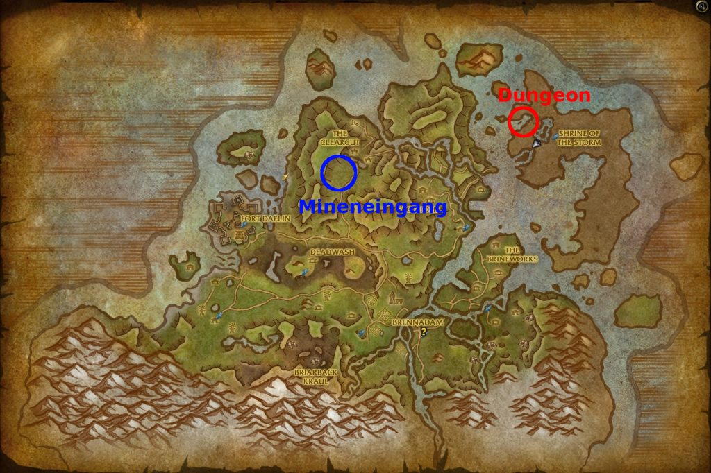 WoW Battle for Azeroth Stormsong Valley Map Naj'zjatar Blood Serpent