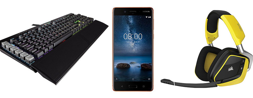 Amazon Blitzangebote mit Corsair K95, Nokia 8 und noch mehr Corsair