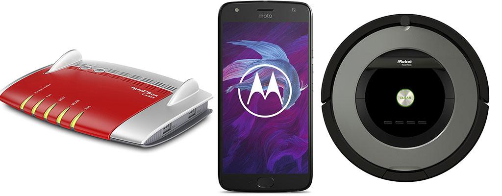 Amazon Angebote – FritzBox 6490, Motorola Smartphone und iRobot 865