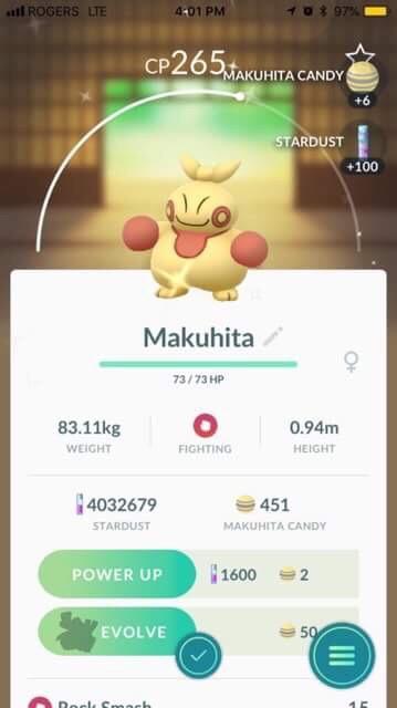 Pokémon GO Shiny Makuhita