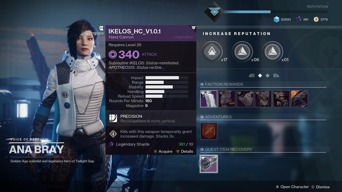 Destiny 2 Ikelos Handfeuerwaffe