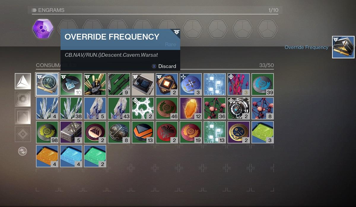 Destiny 2 Override-Frequenz