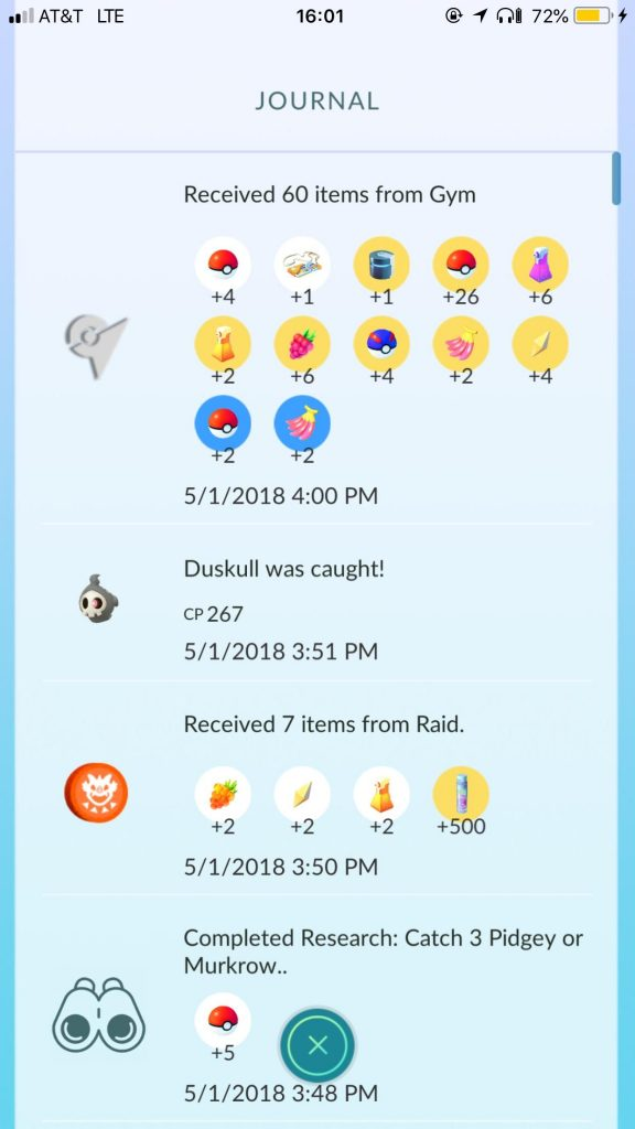 Pokémon GO Items Arena