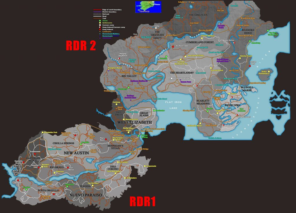 Red Dead Redemption 2 Watsons Blockhutte Karte.Red Dead Redemption 2 Map Alle Bekannten Infos Zur Karte
