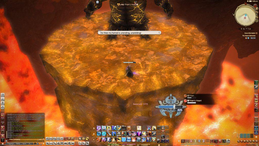 final fantasy xiv titan arena
