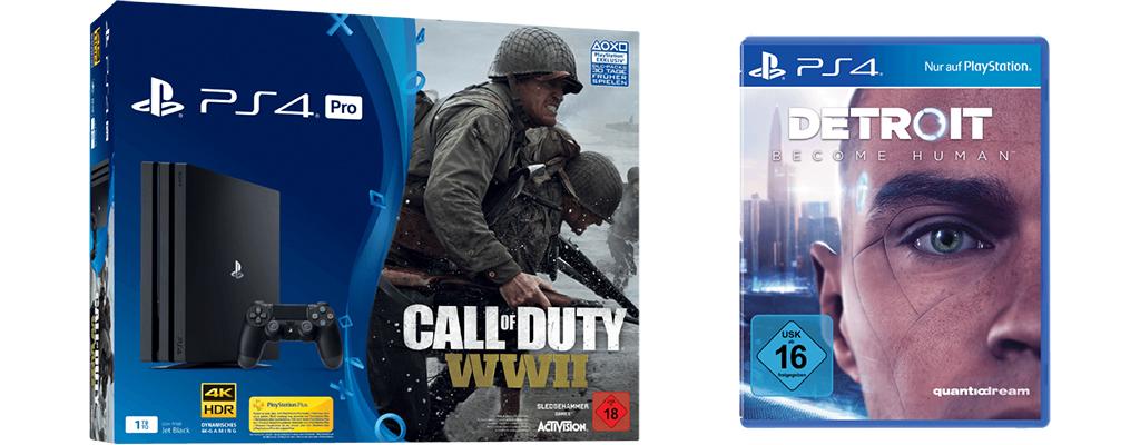 Gönn dir Dienstag – PS4 Pro Bundle mit Cod: WW2 und Detroit: Become Human
