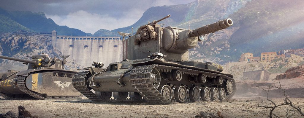 In World of Tanks gibt's nun Panzer im Look von Warhammer 40K