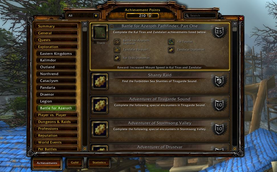 wow battle for azeroth pathfinder part one