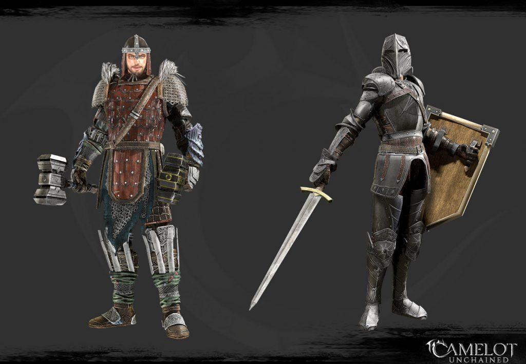 Camelot Unchained MJölnir und Black Knight WIP