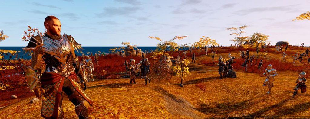 Camelot Unchained Screenshot Krieger und Bots Titel