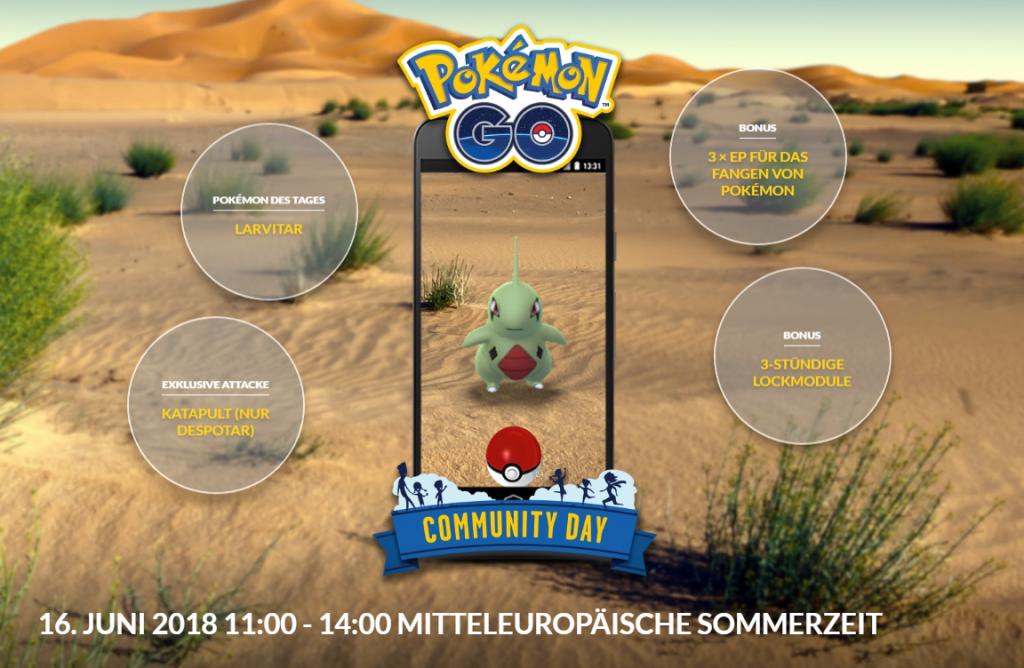 Pokémon GO Com Day Juni Übersicht