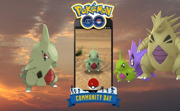 Community Day Larvitar Titel