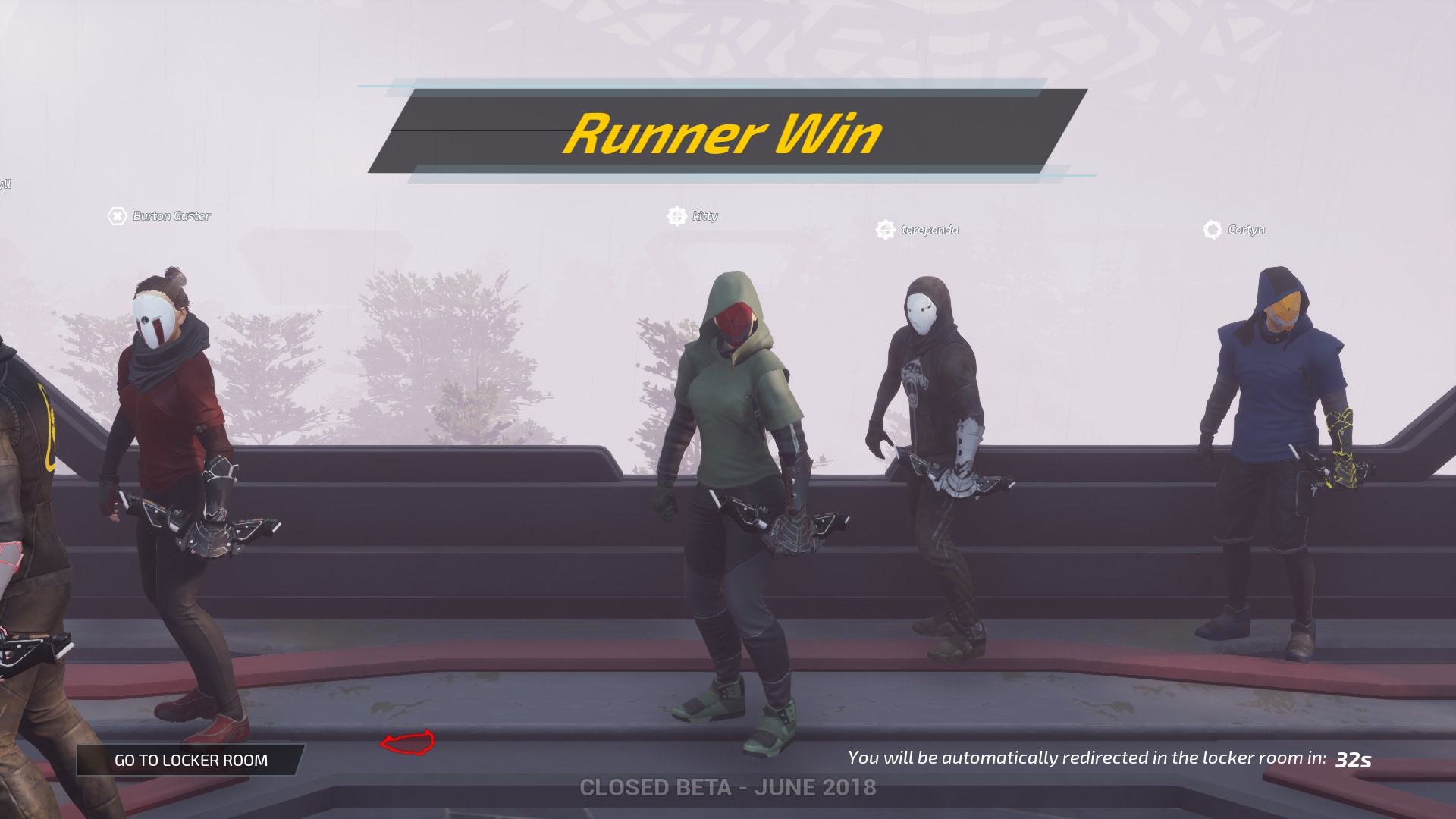 Deathgarden Runner Win