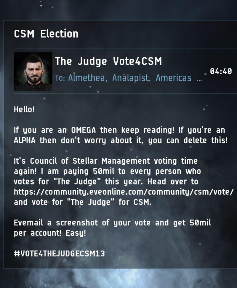 EVE Online Stimmenkauf