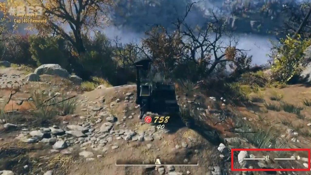 Fallout 76 Gameplay Screenshot Nahrungsbalken