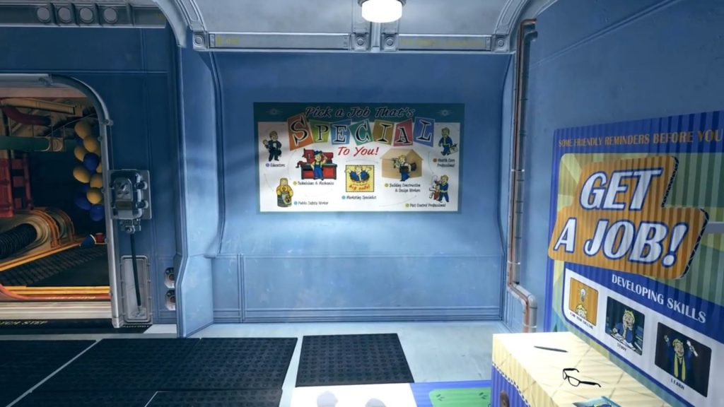 Fallout 76 Gameplay Trailer Screenshot Get a job!