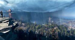 Fallout 76 Gameplay Trailer Screenshot Landschaft mit Strommasten